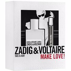 Zadig & Voltaire This Is Her! MAKE LOVE!  Acquista questo fantastico cofanetto e ricevi in OMAGGIO la Bag MAKE LOVE firmata Zadig & Voltaire!  A soli € 55,60, anzichè € 70,00!!! #bestflair #repost #sanvalentino #ideeregalo #regaloperfetto #speciale #bellezza #benessere #curadelcorpo #beauty #makeup #instant #glow #love #laugh #potd #pic #shoot #happiness >>> http://www.bestflair.it/san-valentino/per-lei/zadig-voltaire-this-is-her-make-love-edp-50ml-edp-10ml.html <<<