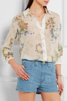 Topshop Unique Hambleton floral-print silk-georgette shirt $255