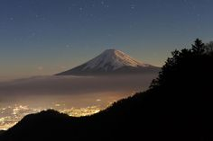 Photograph Moonlit Fujisan by Jacky CW on 500px