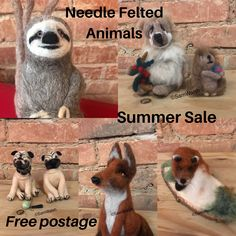 Needle Felted Animals, Felt Animals, Needle Felting, Cute Animals, Felt Fox, Felt Gifts, Handmade Christmas, Christmas Gifts, Quirky Gifts