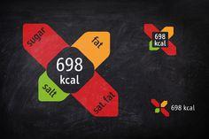 Nutrition facts in restaurants by Matjaz Cuk, via Behance British Shop, Graphic Design Print, Cool Pins, Logo Branding, Logos, Facts, Concept, Restaurants, Behance