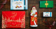 These impressive new Lindt chocolate products only available at Lindt Chocolate Shops for a limited time Lindt Chocolate, Chocolate Shop, Lindor, Holiday Gifts, Shops, Gift Wrapping, Christmas, Products, Xmas Gifts