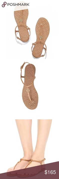Tory Burch Marion Quilted Sandal New with tags and in box // beautiful tan sandals that are a closet staple you'll have for years // quilted footbed adds interesting detail // high quality is a characteristic of all Tory Burch products // sold out in stores, get them before they're gone // no trades Tory Burch Shoes Sandals
