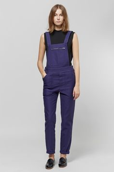 Le Mont St. Michel Cotton Drill Overalls | Nomia Mock Neck Muscle Tee | Dieppa Restrepo Serge Loafers | My Chameleon