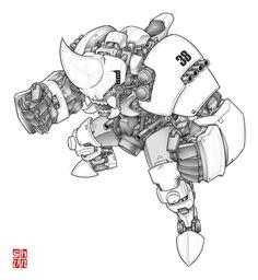 Rhino Wanzer Final by Shun-008.deviantart.com on @deviantART