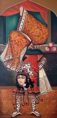 Mohammad Reza Farzaneh - Born in Tabriz. Started painting from 1979 with t., Mohammad Reza Farzaneh - Born in Qajar Dynasty, Persian Culture, Look Into My Eyes, Iranian Art, Beautiful Costumes, Magic Carpet, Traditional Paintings, Travel Memories, North Africa
