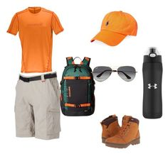 """""""Taking a Hike"""" by blackraven13 on Polyvore featuring Norrøna, Coleman, Burton, Polo Ralph Lauren, The North Face, Under Armour, Ray-Ban, men's fashion and menswear"""