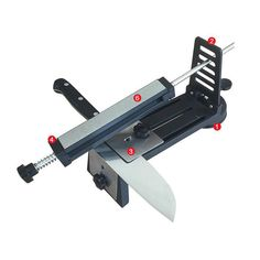 2016 Professional Kitchen Knife Sharpener Fixed Angle Safe Rubber Base 3 Sharpening Stone 240# 600# 1000# Grinder LX-1598 DMD u2
