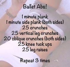 Ballet Abs!  #Health #Fitness #Trusper #Tip