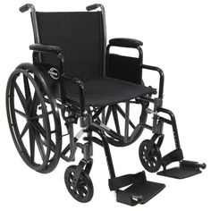 Karman Healthcare Deluxe Lightweight Wheelchair with Removable Armrests Silver Vein 18 Inches Seat Width -- Details on product can be viewed by clicking the image