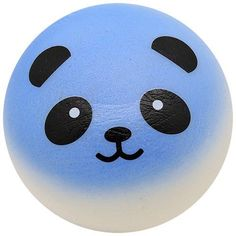 Kawaii Squishies - Panda Bun - Blue - Jumbo