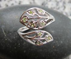 Leaf Peridot Ring