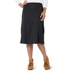 Women's Chaka Long Skirt ~ Tencel & Organic Cotton Knee-Length Skirt by Horny Toad ~ Horny Toad Activewear
