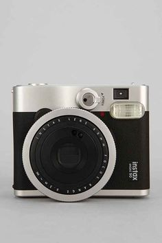 A Polaroid camera is a fun and retro addition to the camera pack. The mini 90 Neo is a stylishly compact camera with advanced features from the photo experts at Fujifilm.