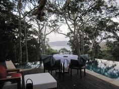 Pretty Beach House: Table for two at the main pool NSW #Australia http://www.tripadvisor.com.au/ShowForum-g255055-i120-Australia.html