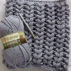 Crochet Puff Stitch Scarf Free Video for beginners and intermediates