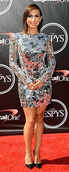 Cheryl Burke showed off her figure in a Tom Ford mini dress at the 2014 ESPYS. Love her sleek and sexy look!