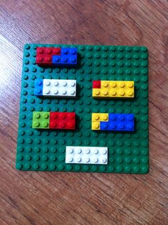 My 5 year old loves this number bond to ten idea. The child can add the coloured blocks to the white block at the top - very tactile. Also good for showing you get the same answer whichever way you write your number sentence by spinning the board around ie 7+3=10 and 3+7=10. Ask them to write their number sentence down or create/search for a fun worksheet to fill in (maybe a lego inspired one).