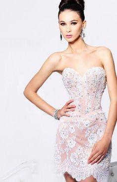 Romantic haute couture dress