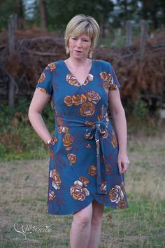 New Sewing Pattern: Petaluma Faux Wrap Dress - Itch To Stitch African Wear Dresses, Dress Sewing Patterns, Faux Wrap Dress, I Dress, Wardrobe Staples, Short Sleeve Dresses, Feminine, Casual, Sleeves
