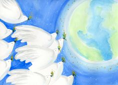Peace for Mother Earth by Deborah Mores Art