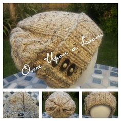 Ravelry: Faith is an Enternal Loop Beanie (Loom Knit horseshoe cable) pattern by Once Upon A Loom