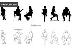 This file is saved in AutoCAD 2000 and including: people on the move, young people at the Bar and more. Autocad, Person Silhouette, Silhouette Art, Person Drawing, Drawing People, Person Sitting, People Sitting, Bench Drawing, Sitting Pose Reference