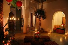 Romantic ambience and classic Moroccan arches