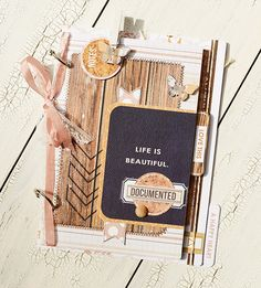 Life is Beautiful Mini Album using the new Teresa Collins Designs Life Emporium collection   Jess from Right at Home Scrapbooking