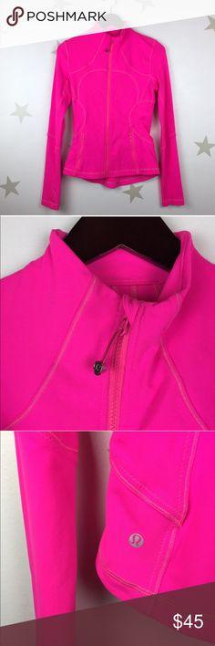 Lululemon bright pink! Size 4. Lululemon full zip size 4. No tags inside. lululemon athletica Jackets & Coats