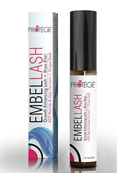 Eyelash Growth Product - Protege EmbelLASH - Lash and Brow Enhancer - Get Thicker Longer Lashes and Bolder Brows in About a Month (5ml) Protege http://www.amazon.com/dp/B00NUJ6FL6/ref=cm_sw_r_pi_dp_qpCWub0W57SV5