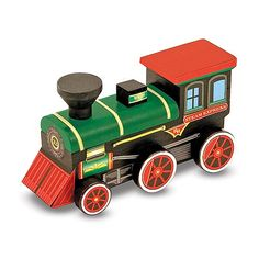Tren de madera para pintar - Melissa & Doug. Todo lo que tu bebé ...