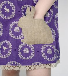 Pillowcase Dress Pocket---Bunny Love Reversible Jumper