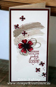 www.Stempelkreationen.de: Stampin' Up! Work of Art, Flower Shop, pansy punch... neutral card