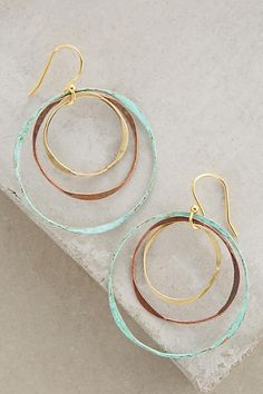 Sibilia Matryoshka Hoops Hypoallergenic gold-plated earwire. Brass. Handmade in Argentina