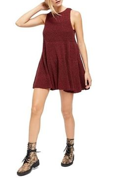 Free People Waterfall Ruffle Sleeveless Sweater Short Casual Dress Size 8 (M) Sweater And Shorts, Review Dresses, Nordstrom Dresses, Swing Dress, Waterfall, Free People, Casual, Sweaters, Clothes