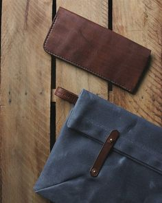 the long wallet and folio - happy companions.  Rural Kind