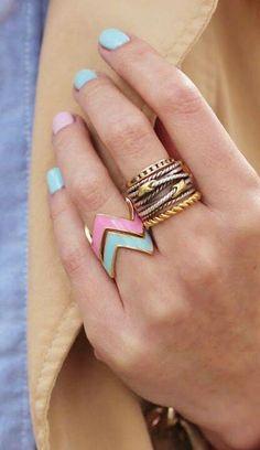 Pastel rings.
