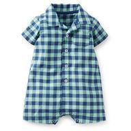 Cotton Plaid Romper