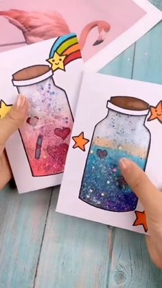 Diy Crafts Hacks, Diy Crafts For Gifts, Jar Crafts, Creative Crafts, Diy Arts And Crafts, Paper Crafts Origami, Paper Crafts For Kids, Preschool Crafts, Crafts For Teens