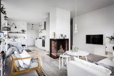 Un appartement suédois au salon inoubliable
