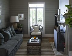 Love this cozy tv area/nook. Marco Meneguzzi Design
