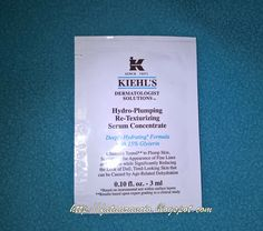 Kiehl's-Hydro-Plumping Re-Texturizing Serum Concentrate (sample) #kiehls #sample