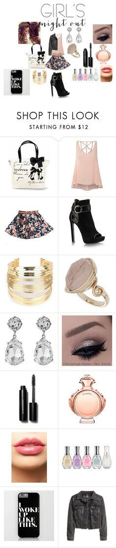 """""""Girls Night Out!"""" by brooklyn-849 ❤ liked on Polyvore featuring beauty, Glamorous, WithChic, Topshop, Kenneth Jay Lane, Bobbi Brown Cosmetics, Paco Rabanne, LASplash, Sally Hansen and H&M"""