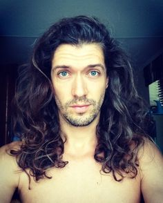 long curly hair for men / wavy hair inspiration / long hair on men / free the curls / curls