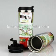 www.lltbottles.com paper insert plastic mug stainless steel inner plastic outer coffee travel mug bpa free with paper insert