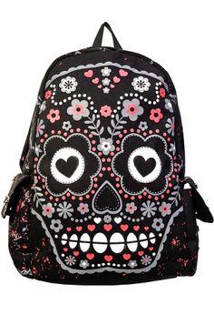 Banned Sugar Skull Backpack