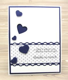 Fashionable Hearts Embosslits die and the Hearts Framelits Dies by Stampin' Up!