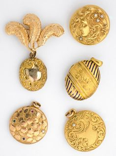 I love lockets... of all shapes, sizes and eras. I was told these are Deco but that doesn't seem correct.