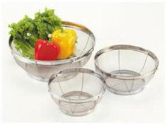 Norpro 3-pc. Stainless Steel Strainer Set | Cooking.com